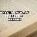 Babits Mihály legszebb versei