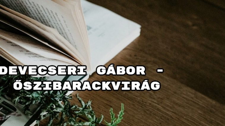 Jöjjön Devecseri Gábor - Őszibarackvirág verse.
