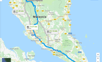 The distance of Road Trip