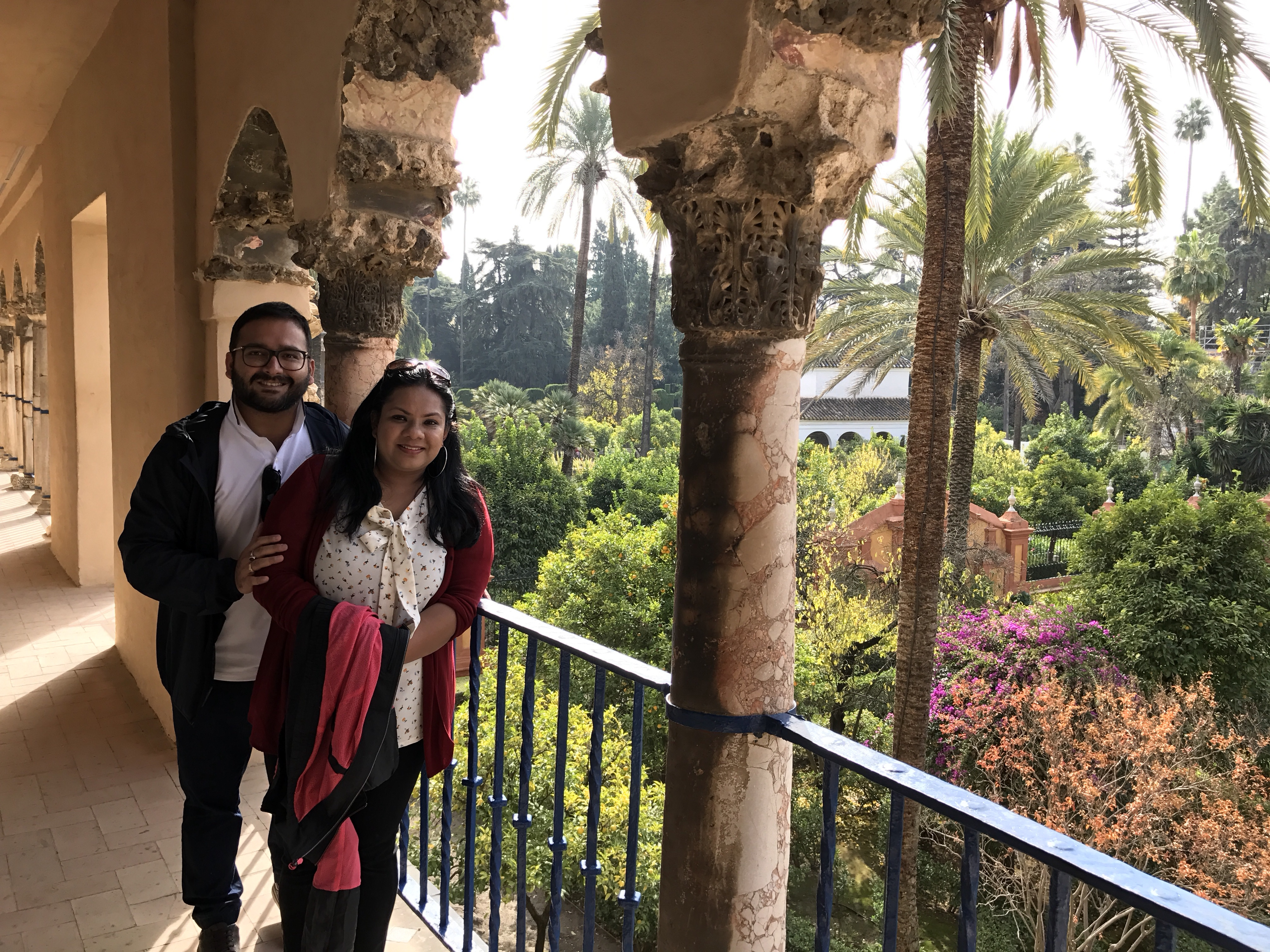 Us at Royal Alcazar Seville.