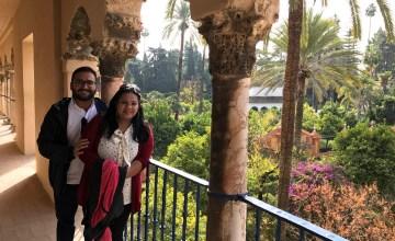 Us at Royal Alcazar Seville.