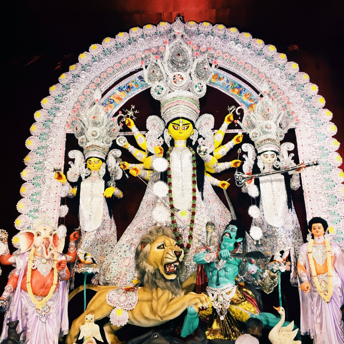 The Idol in one of the pandals of Durga Puja Festival.