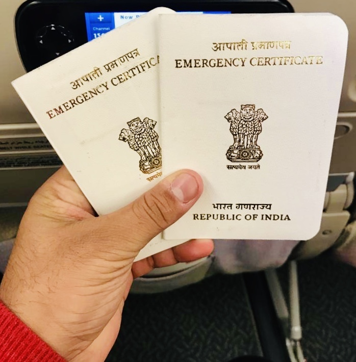 Our Indian Emergency Passports after our passport got stolen overseas in Barcelona