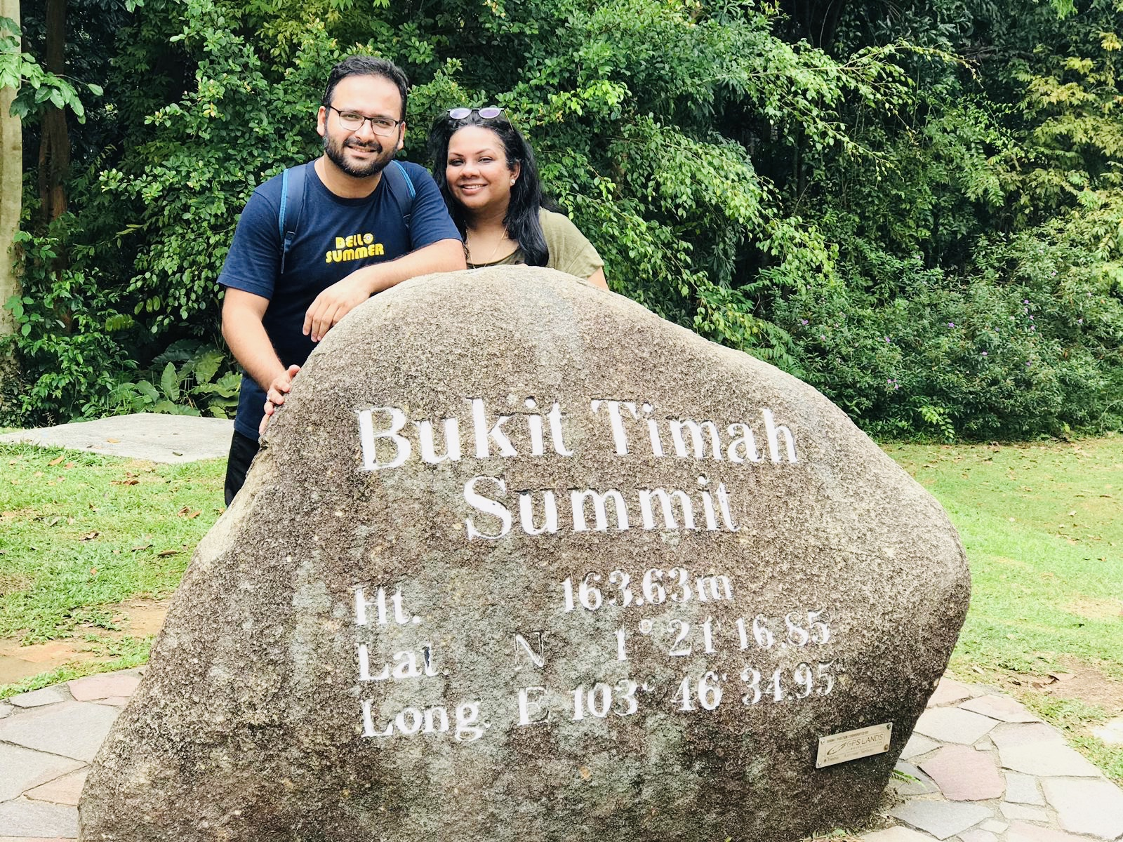 Us at the Summit of Bukit Timah