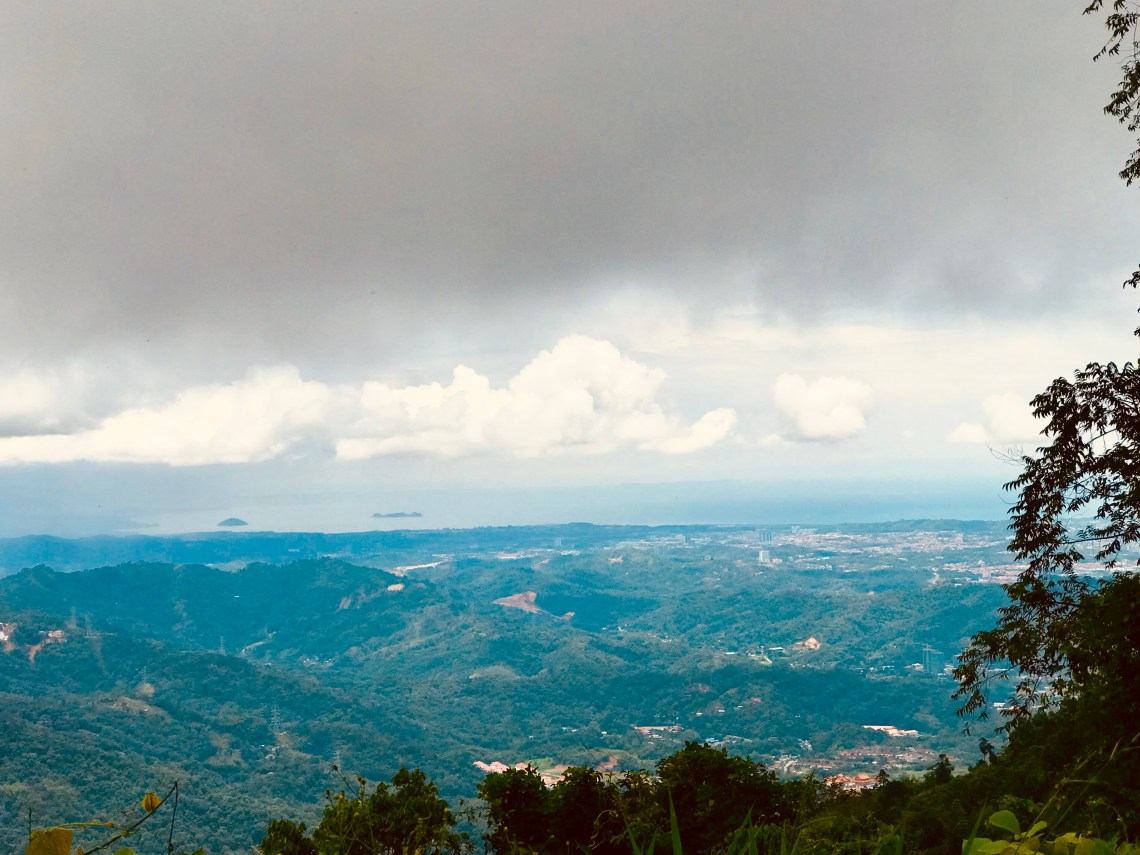 The beautiful view of Kota Kinabalu from Kokol Hill.