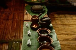 The ingredients for wine making at dasun tribe of Mari Mari Village