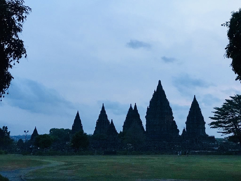 The view of Prambanan temple of Yogyakara.