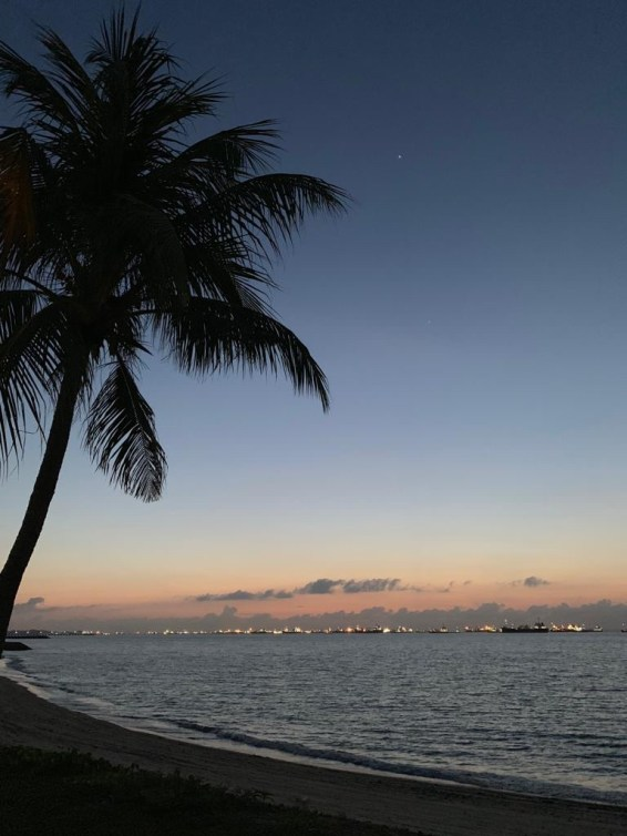 Beautiful night view of the sea.