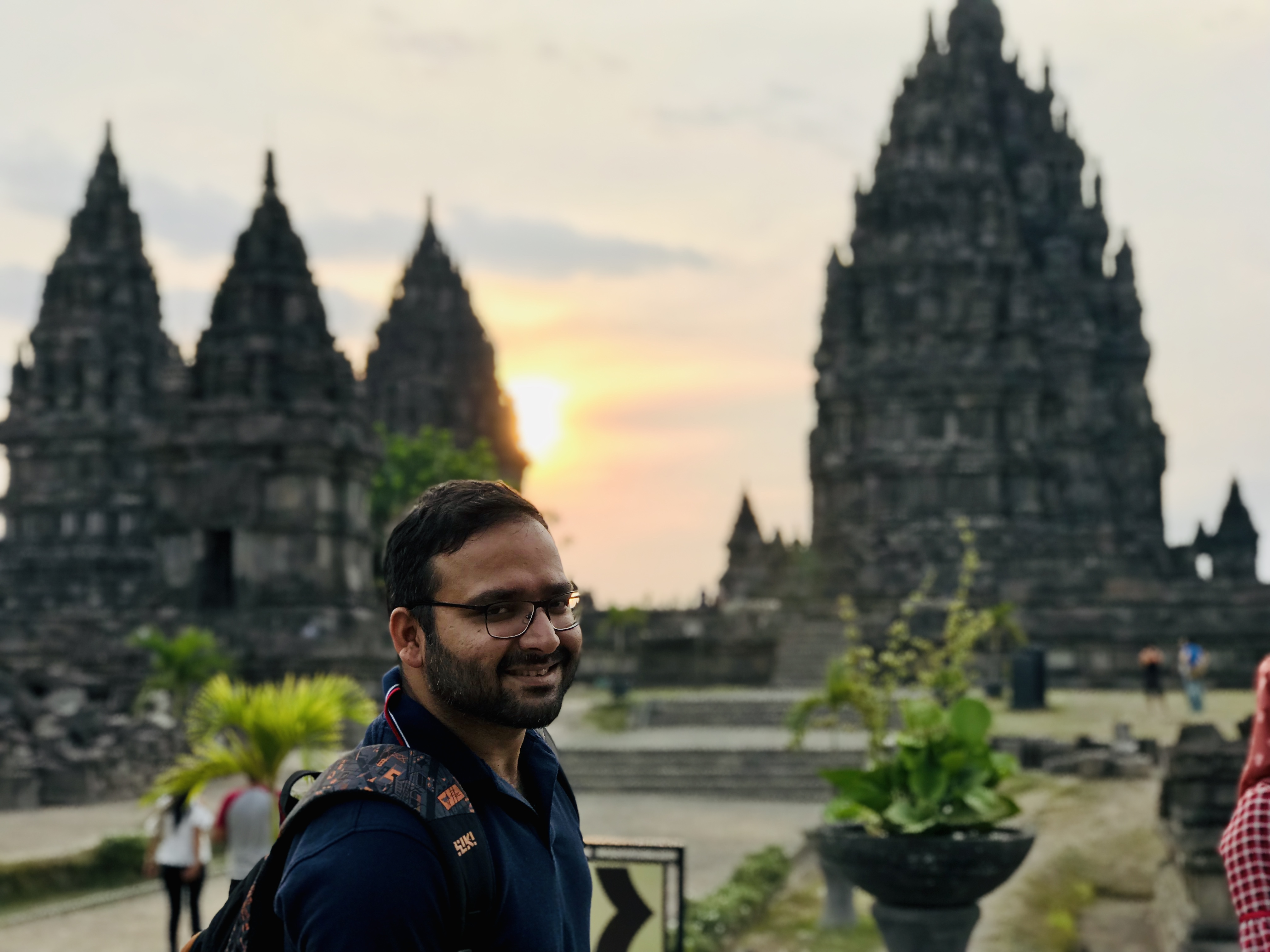 The sunset view at Prambanan at Yogyakarta