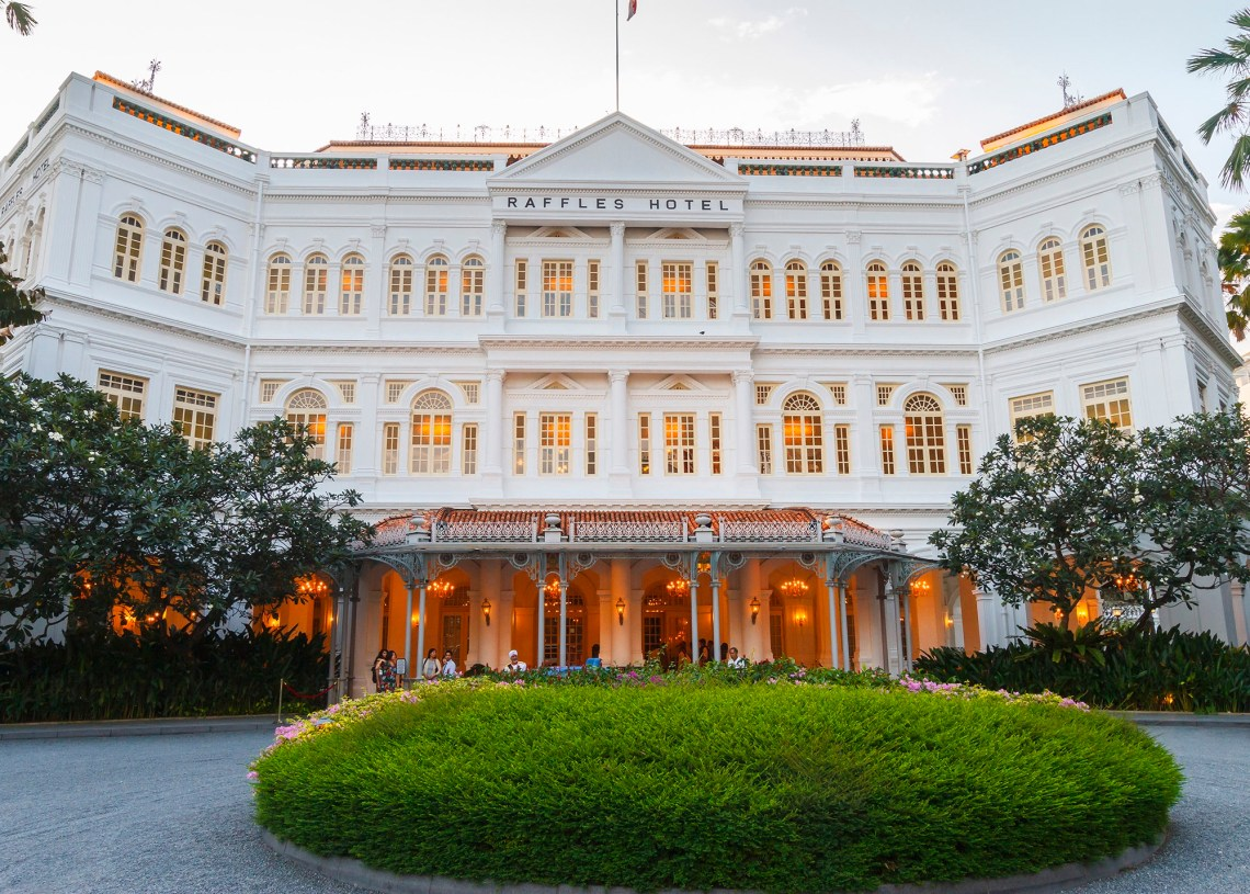 Where to stay in Singapore? Raffles Hotel.