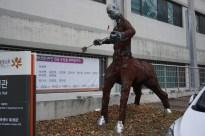 Interesting sculptures outside the art school
