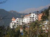 Dharamsala, India, from the Dalai Lama's temple. the Namgyal