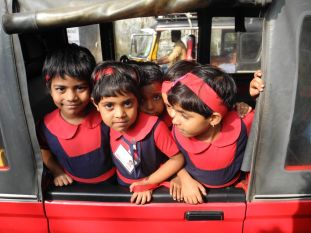 Time to go home from school in Ft. Cochin