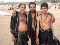 Gokarna is full of pilgrims. They don't swim…they paddle