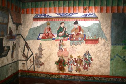 A very special ancient wall painting in a private home