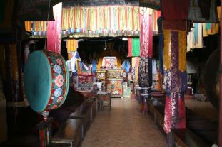 Each chapel was colorfully decorated