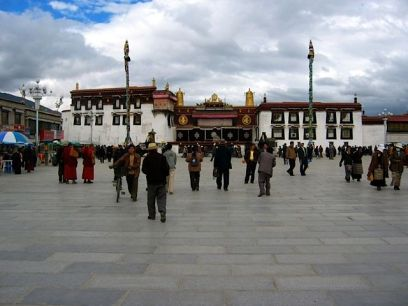 The Jokhang Temple and courtyard, Llasa
