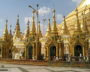 Myriad smaller temples at Shwedagon