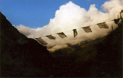 Flag over the Himalaya