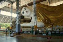 Head of reclining Buddha, Bago