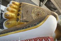 Feet of reclining Buddha, Bago