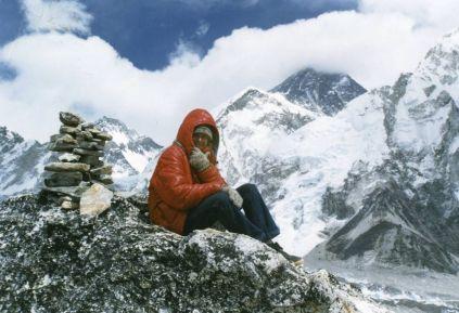 On top of Kala Pattar, 18,514 ft.
