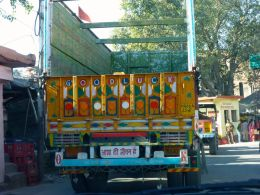 A typical truck in India