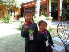 My favorite little girls, Aashika and Ashmika