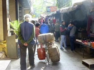 A bazaar-laden walkway