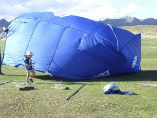 Oops, try again! It's always windy in Mongolia….