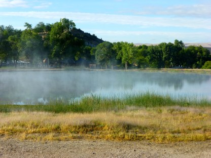 This was the first view of the steaming hydrothermals