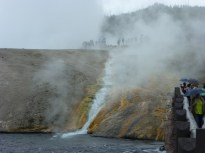 Here's what happens when cold water runs over steaming rock