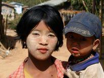 We met lots of children along the way. Notice the sunscreen....