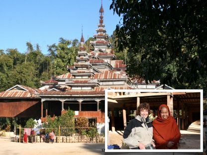 We camped at a Buddhist monastery along the way. Was fascinated listening to the youngest monks learning their chants
