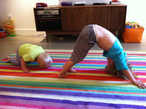 Some morning yoga