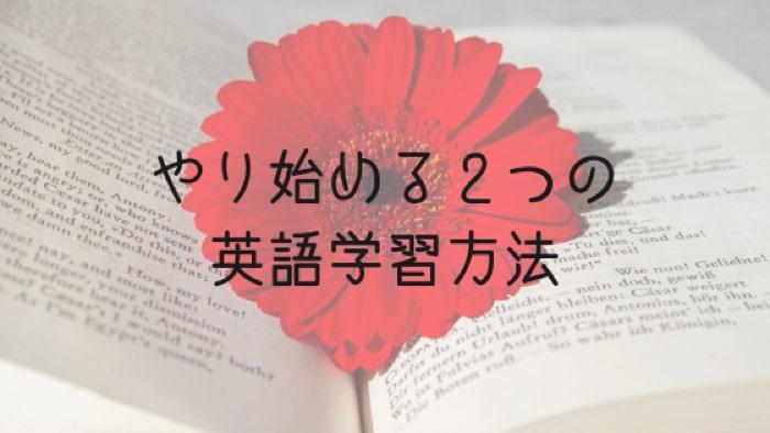 やり始める英語2つの英語学習方法について