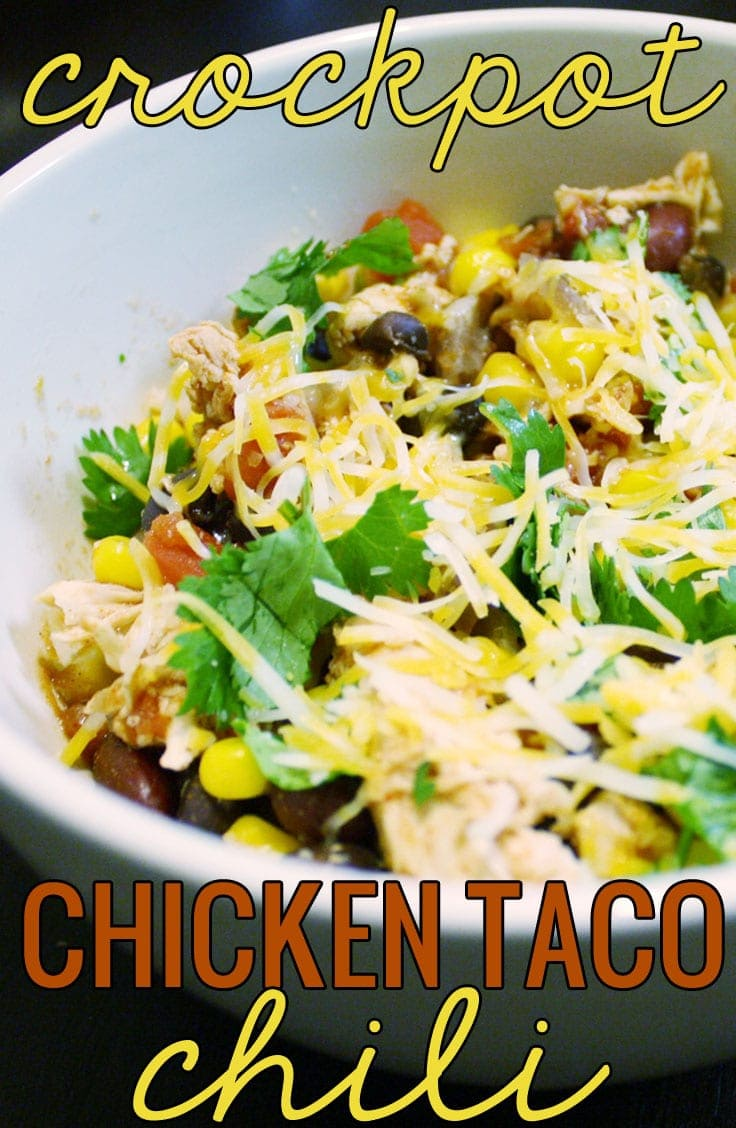 Crock Pot Chicken Taco Chili - tasty and guilt free!