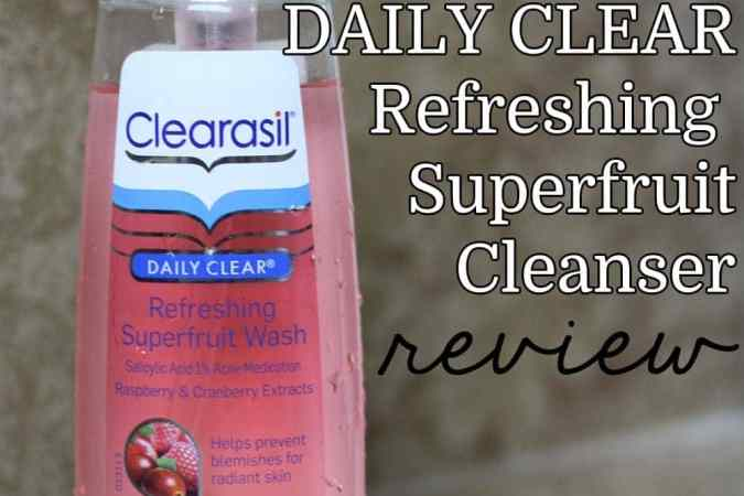 Clearasil Superfruit Cleanser Review