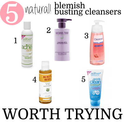 5 Natural Blemish Busting Cleansers Worth Trying