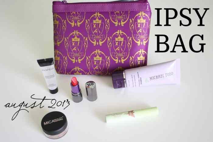August 2013 Ipsy Bag