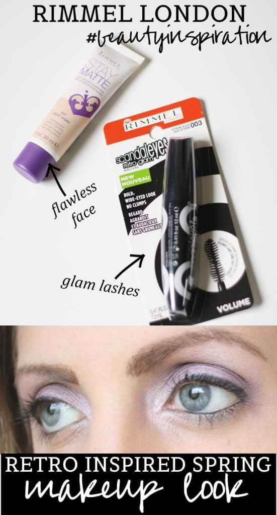 Rimmel London #BeautyInspiration Retro Inspired Spring Makeup Look #shop #cbias