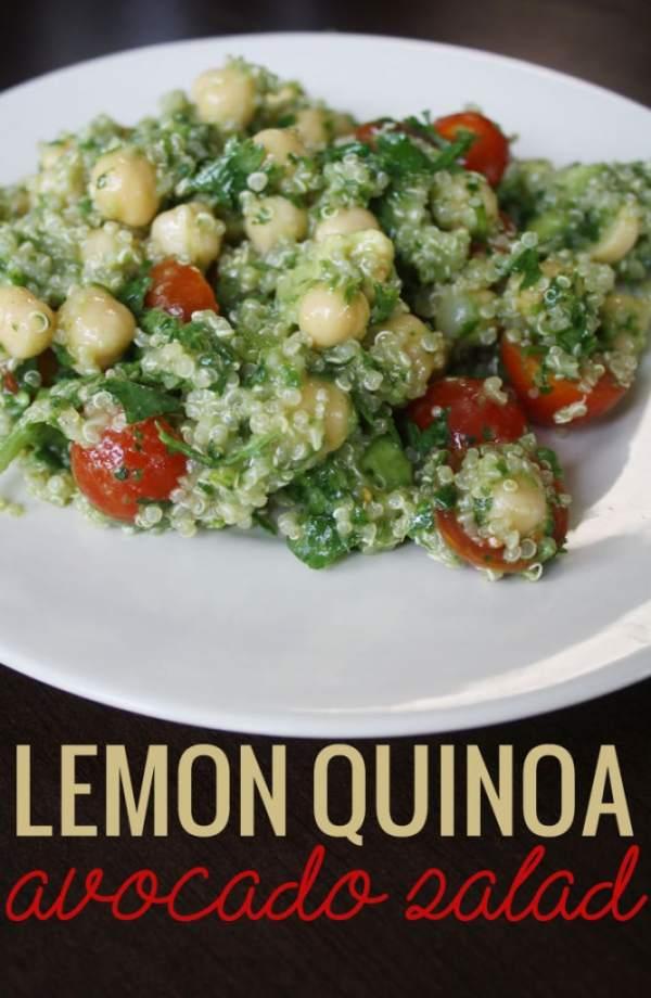 Lemon Quinoa Avocado Salad