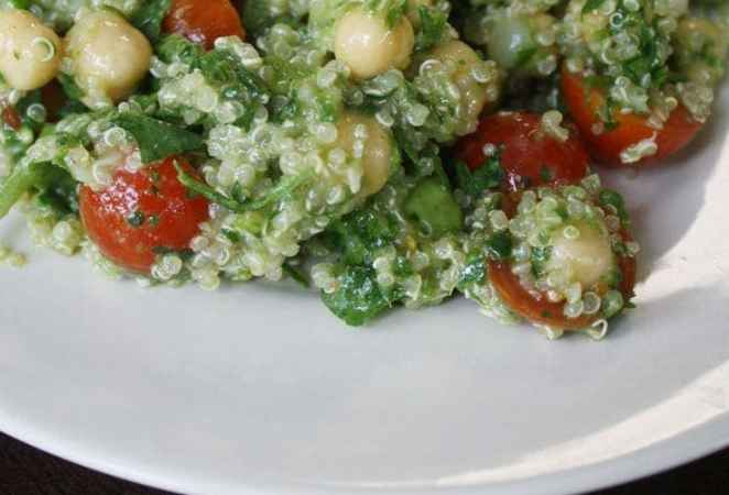 Lemon Quinoa Avocado Salad (Clean Eating)