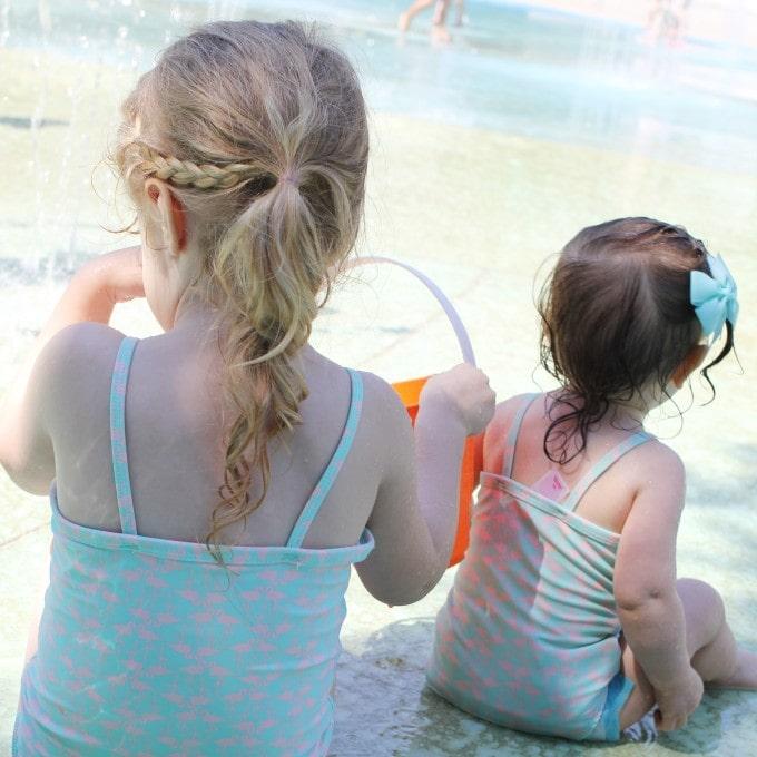 splash pad with girls
