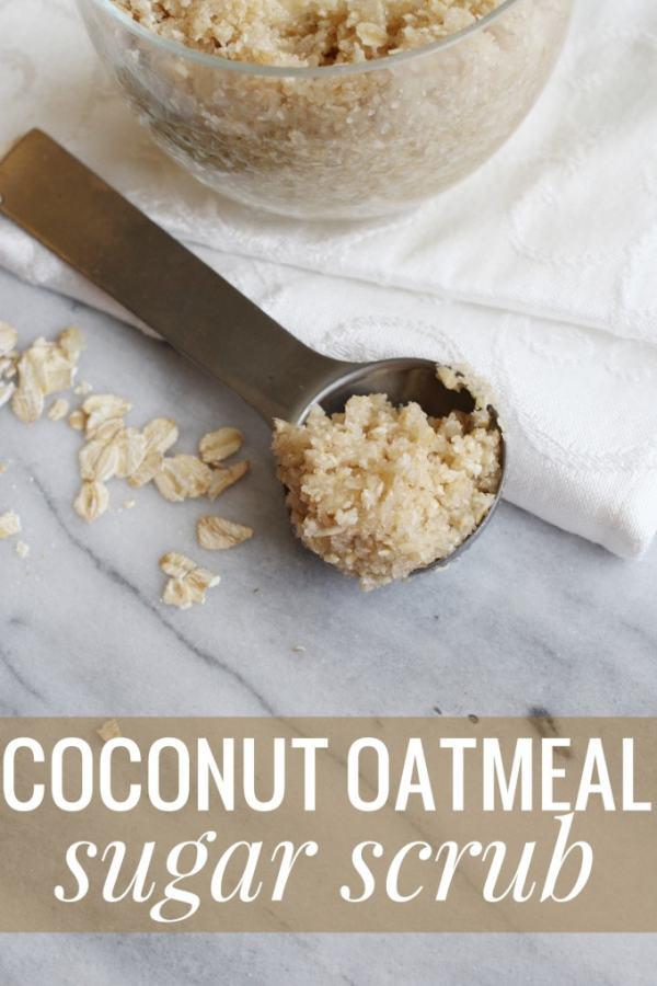 DIY Coconut Oatmeal Sugar Scrub