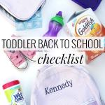 Toddler Back to School Checklist