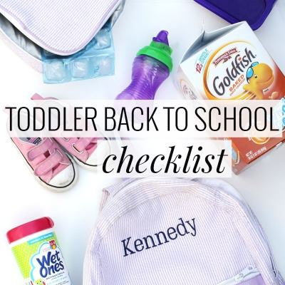 Toddler Back to School Checklist