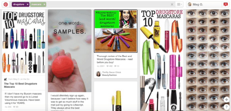 Drugstore Mascara on Pinterest - SEO Example