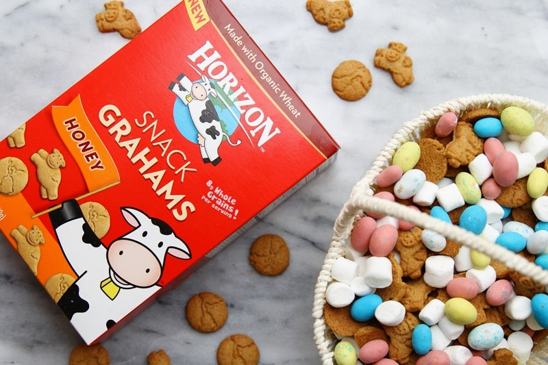 Horizon Snack Grahams - perfect to use for this Easter S'mores Snack Mix!