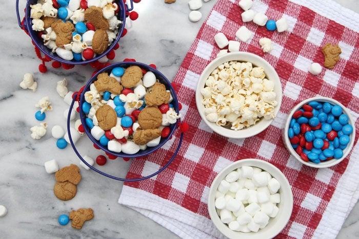 Patriotic Smores Popcorn